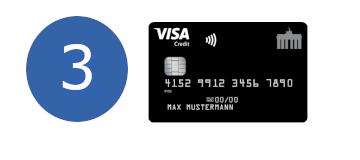 Deutschland Kreditkarte dritter Platz