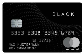 Black and White Prepaid Mastercard